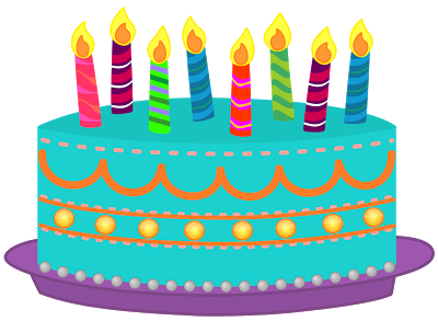 400x293 Birthday Cake With Lots Of Candles Clipart Vector And Png Images