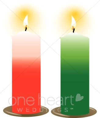 328x388 Christmas Candles Wedding Candles Clipart