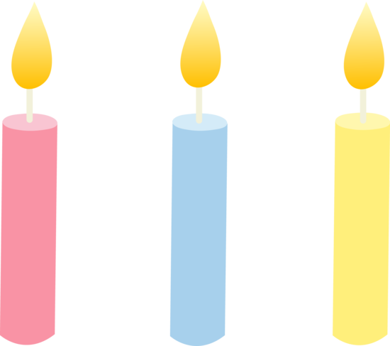 550x487 Birthday Candles Clipart Free