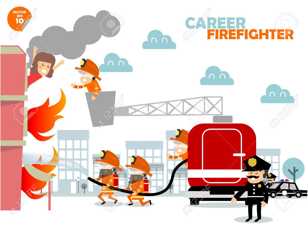 1300x974 Firefighting Job Clipart