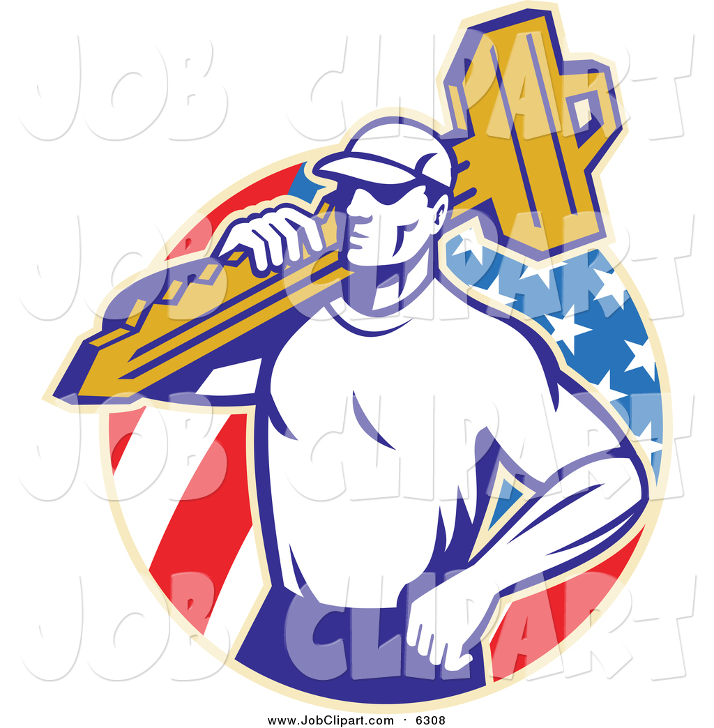 1024x1044 Job Clip Art Of A Retro Locksmith Carrying A Key Over An American