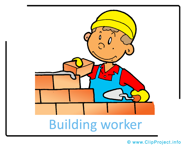 765x604 Building Worker Clipart Image