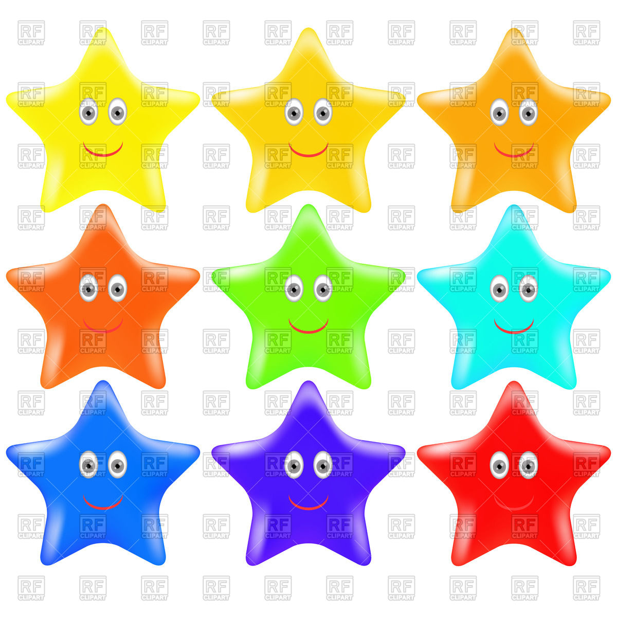 1200x1200 Set Of Colorful Stars