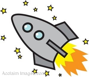 300x259 Cartoon Rocket With Stars Clip Art Reference Clip