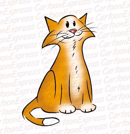 455x467 Cartoon Cat Clipart