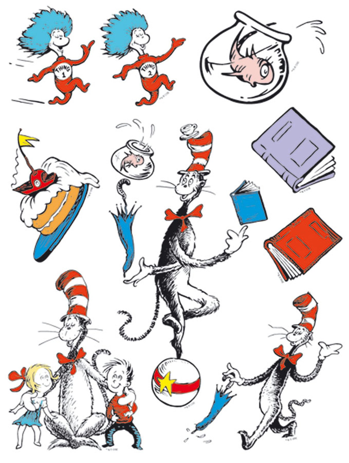 1207x1600 Dr. Seuss Cat in the Hat Window Clings