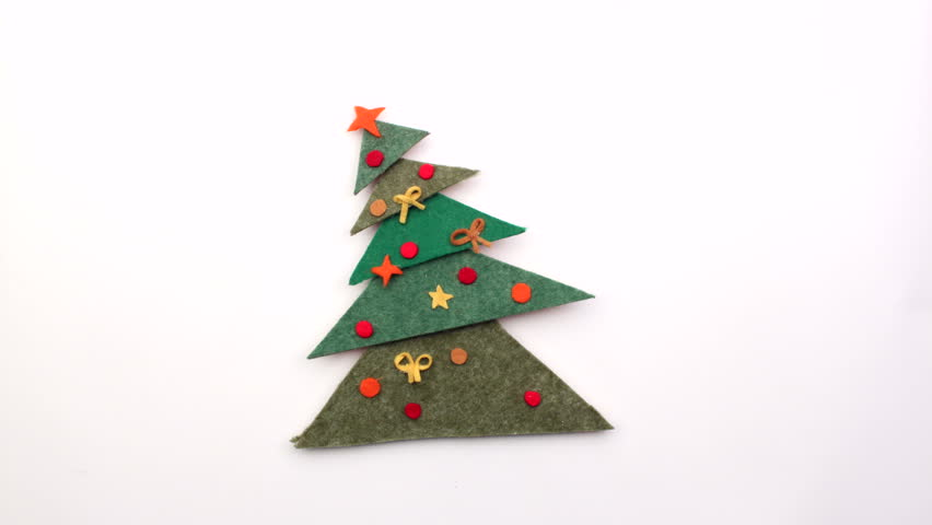 852x480 Christmas Tree With Bunch Of Christmas Gifts. Stop Motion
