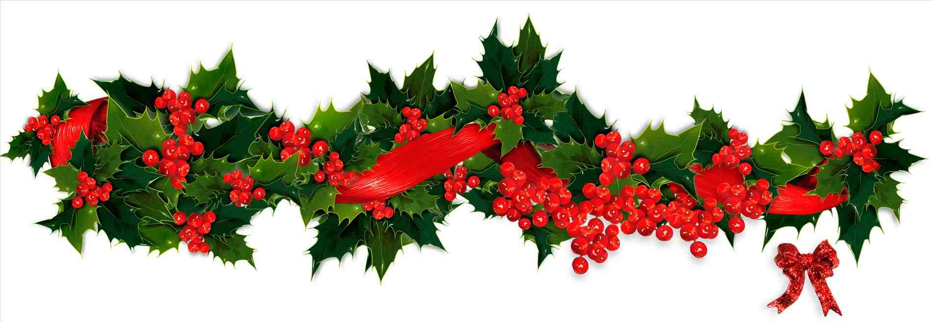 1900x657 Christmas Holly Garland Clipart Cheminee.website