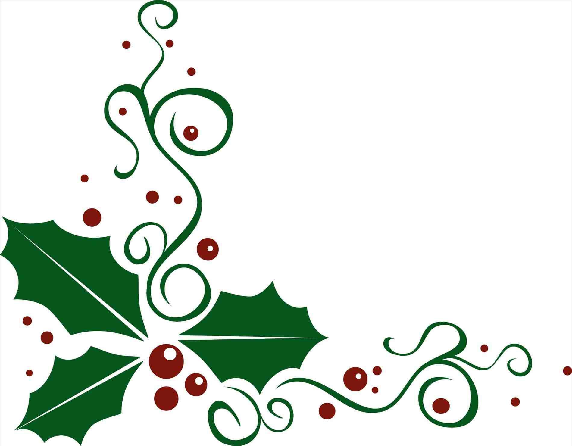 1899x1481 Clip Art Border Download Corner Corner Christmas Holly Clip Art