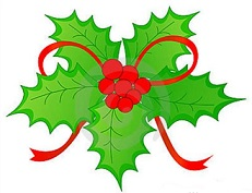 231x177 Free Christmas Holly Clipart