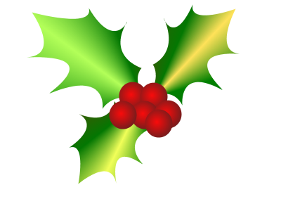 400x300 Free Christmas Holly Clip Art 3