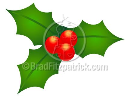 432x324 Cartoon Christmas Holly Clip Art Christmas Holly Clipart