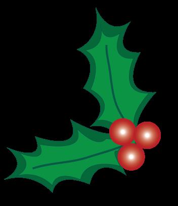 352x408 Christmas Holly Clipart
