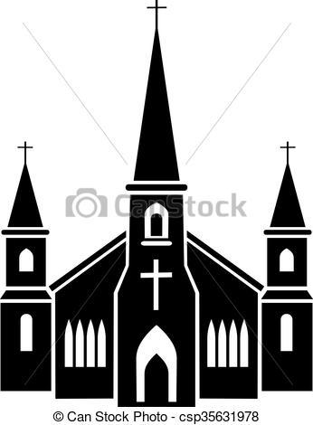 346x470 Church Clipart Illustration