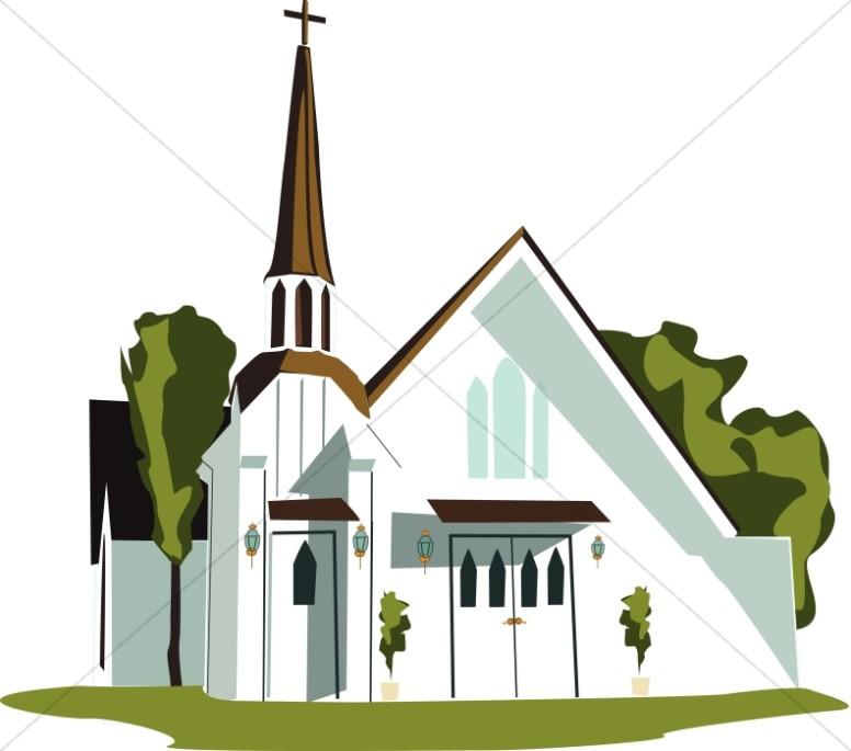 776x685 Country White Chapel Church Clipart