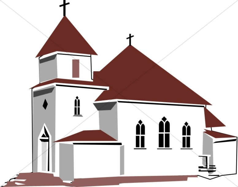776x609 Red And Tan House Of Worship Church Clipart