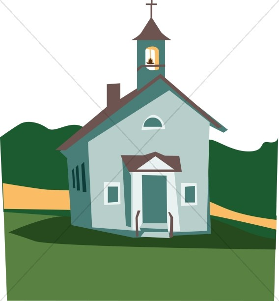568x612 Summer Colors Church Church Clipart
