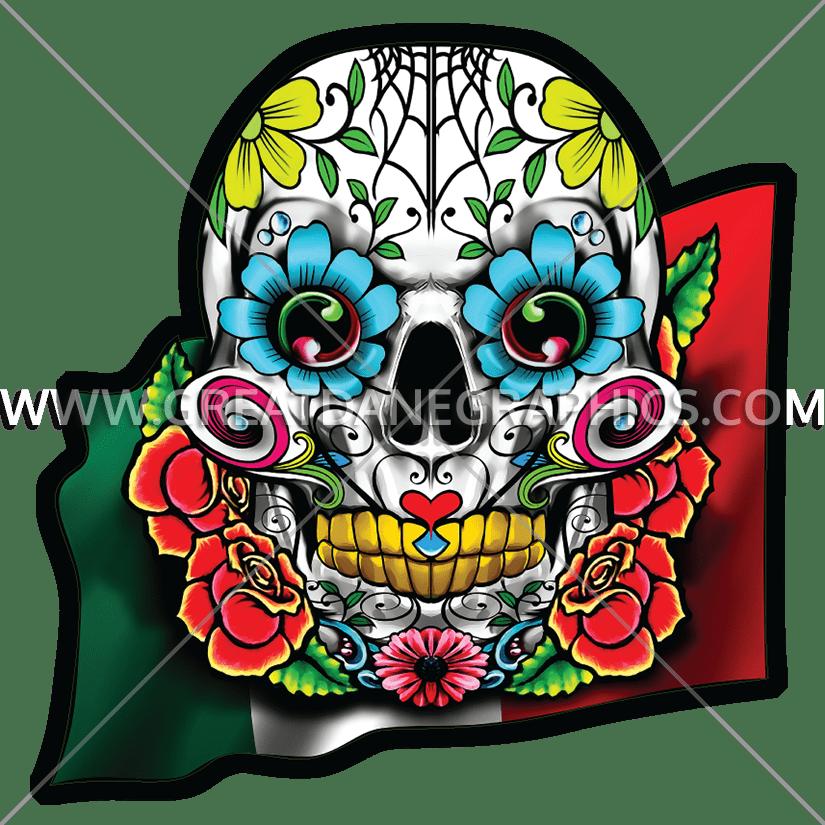 825x825 Skull Cinco De Mayo Production Ready Artwork For T Shirt Printing