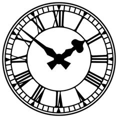 236x236 Clock Face With Roman Numerals Clock Faces, Roman And Clocks
