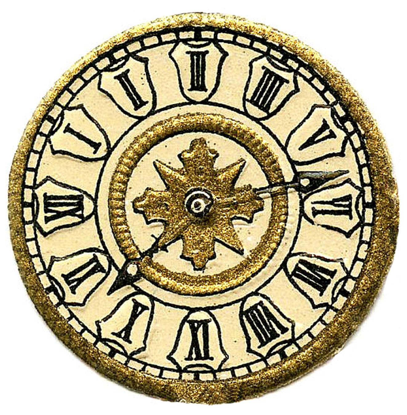 1323x1350 Steampunk Clock Clipart