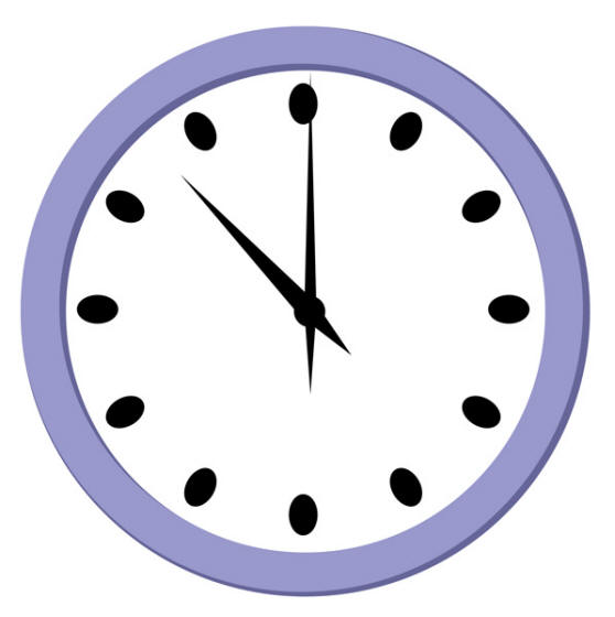 558x560 Clock Clip Art Half Hour Free Clipart Images