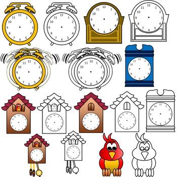 350x350 Clocks Clipart By Math Clips Teachers Pay Teachers