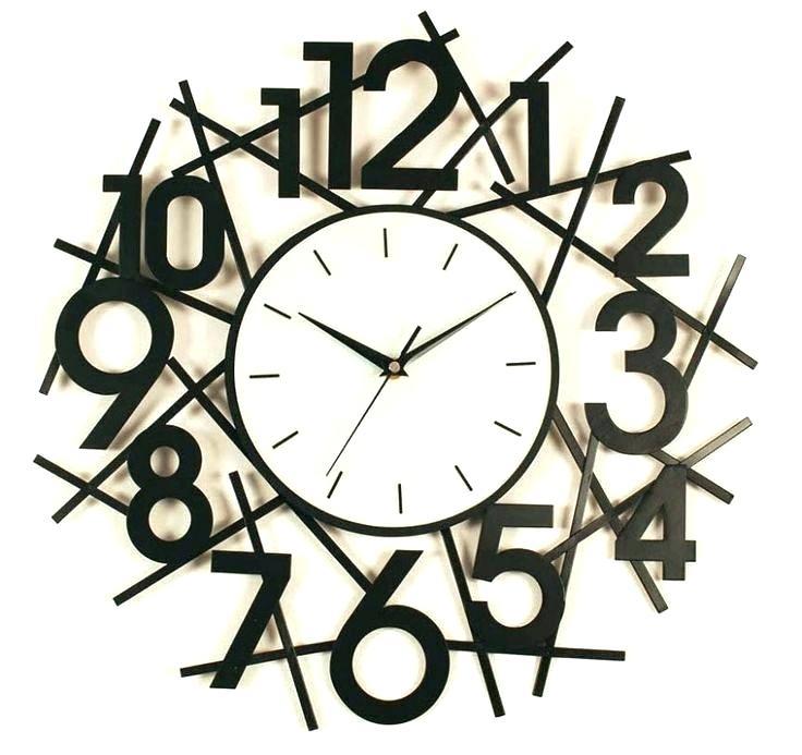 736x693 Diy Design Art Foam Digit Wall Clock Home Decor Black Antique Arts
