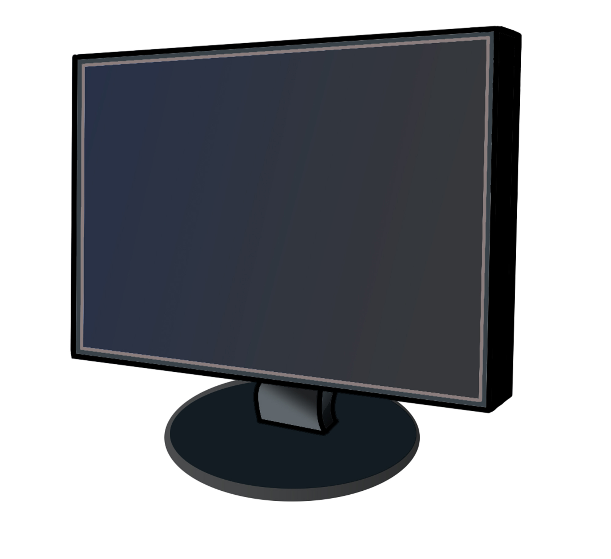 2000x1832 Image Of Computer Monitor Clipart