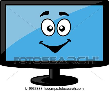 450x378 Clipart Of Television Screen Or Computer Monitor K19933883