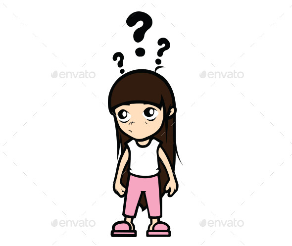 590x497 Confused Little Girl Cartoon Confused, Font Logo And Fonts