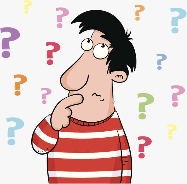 650x643 A Cartoon Illustration Is Confused By A Pile Of Questions, A Pile