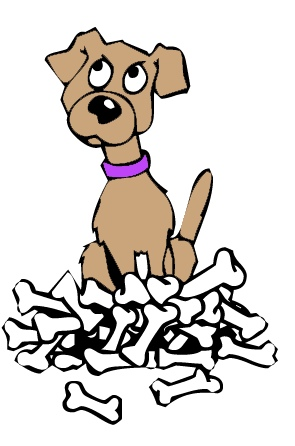 295x446 Pile Of Dog Bones Clipart