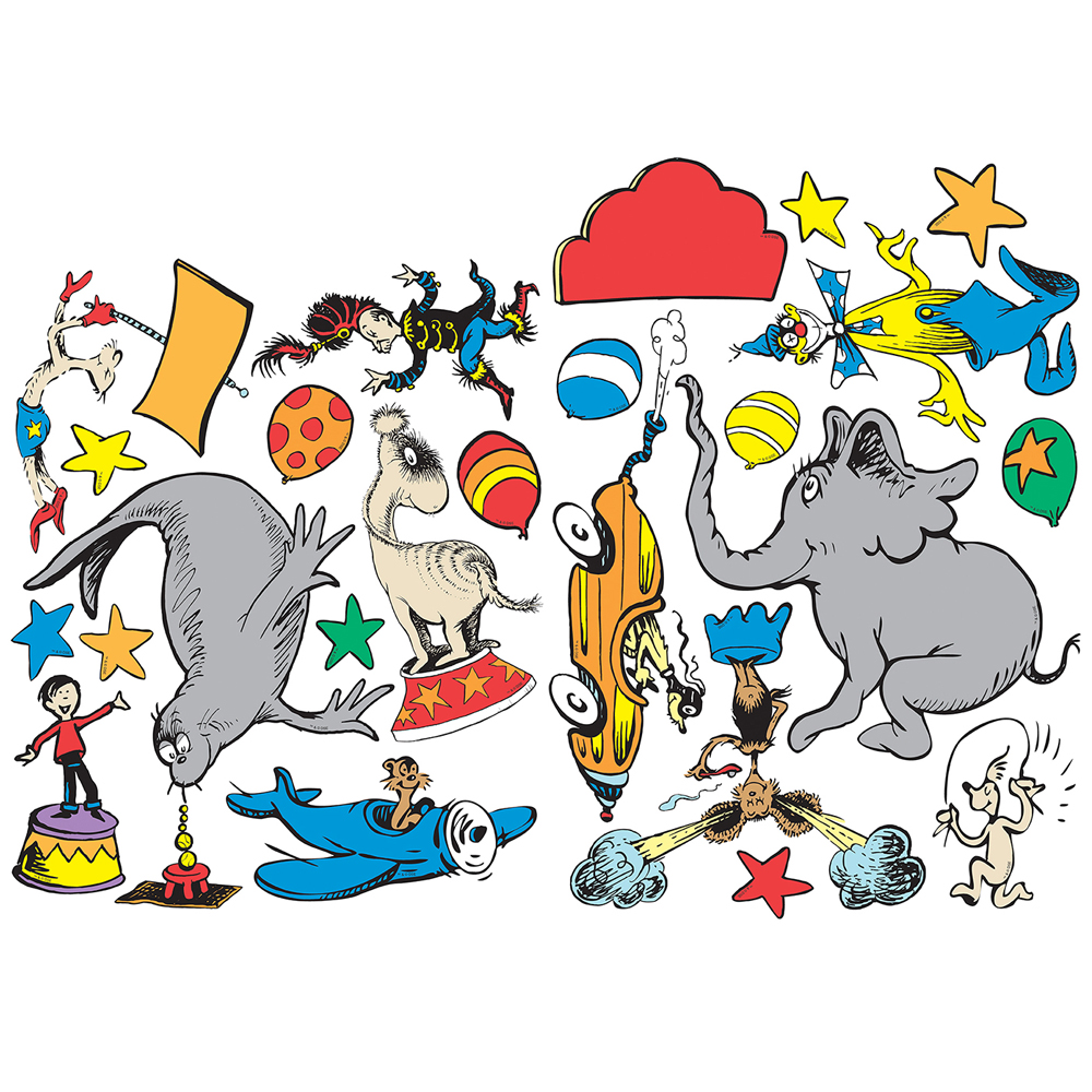 1000x1000 Dr. Seuss If I Ran The Circus 2 Sided Classroom Decorations