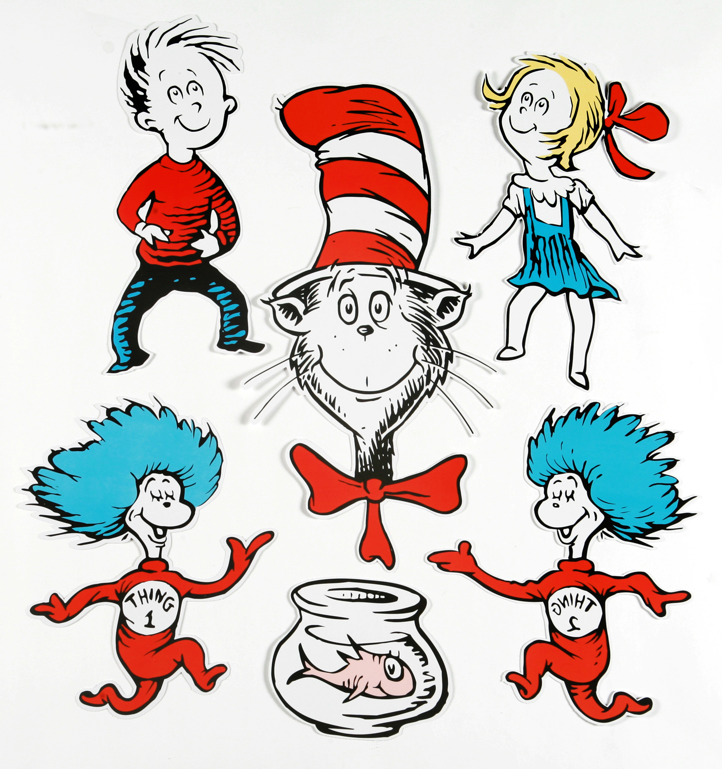 1410x1500 Large Dr. Seuss Characters 2 Sided Classroom Decor Eureka School