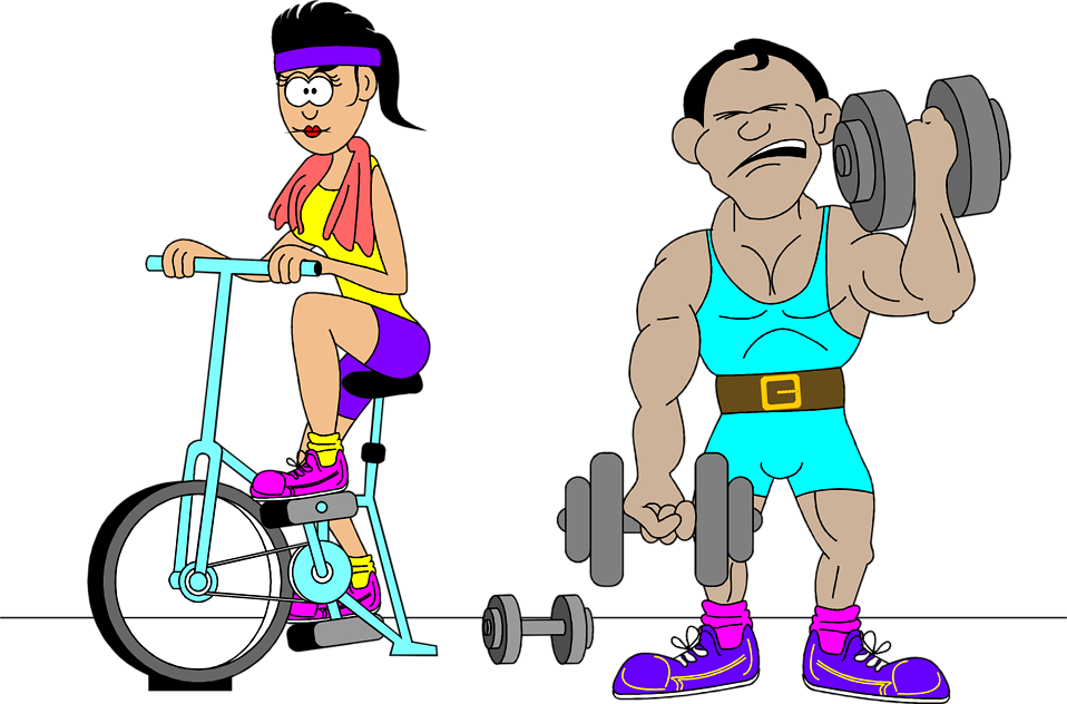 958x632 Exercise Free Stock Photo Illustration Of A Man And Woman