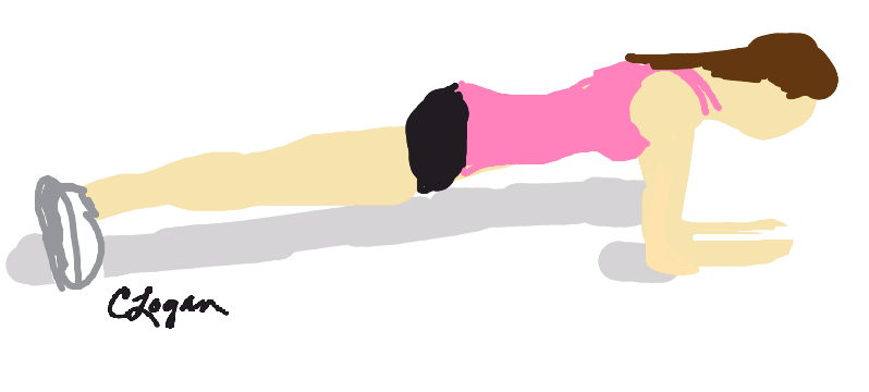 798x360 Plank Exercise Clipart