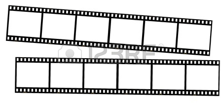 450x219 Film Strips Isolated On White. Great For Borders, Frames
