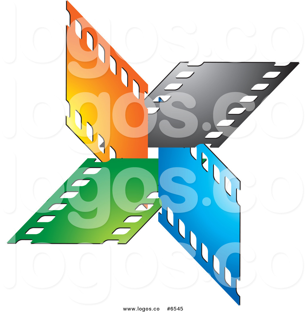 1024x1044 Royalty Free Clip Art Vector Logo Of Colorful Film Strips Forming