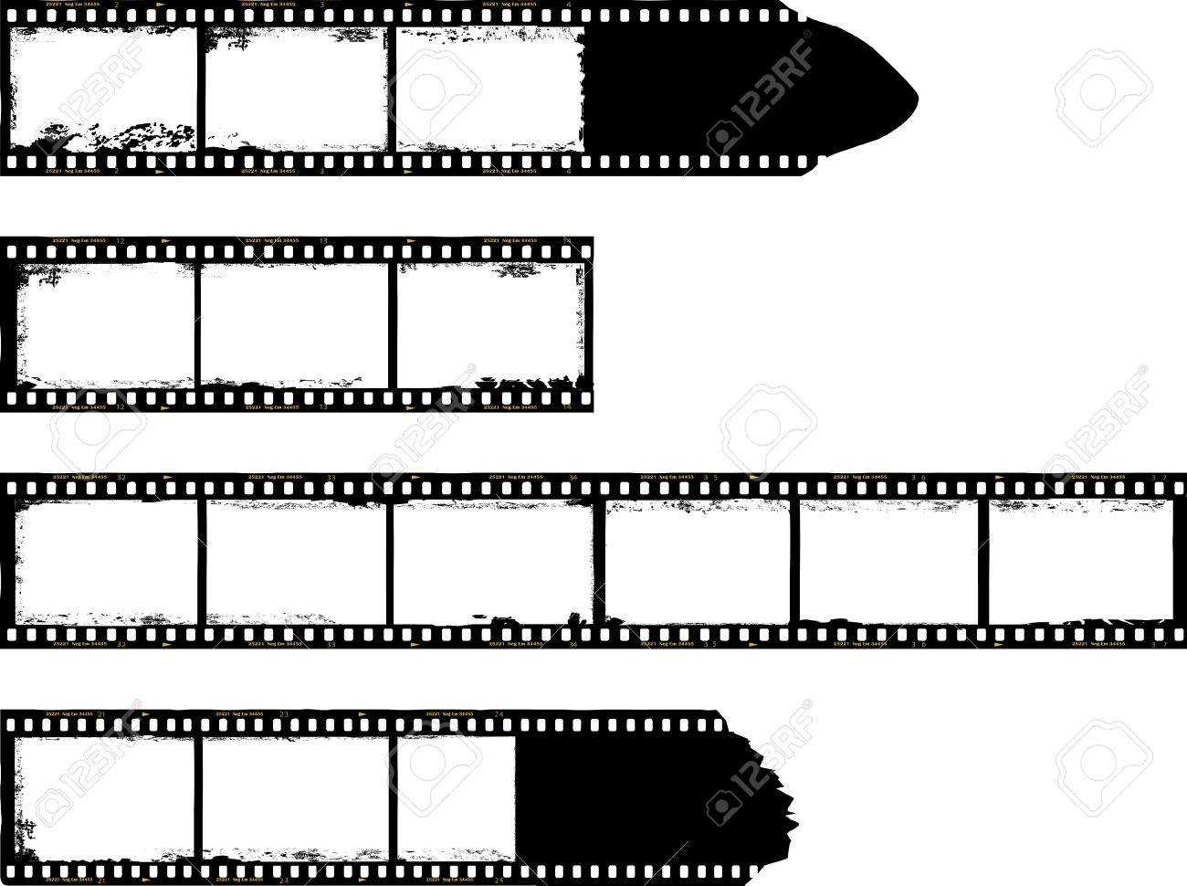1300x970 Set Of, Grungy Film Strips,free Copy Space,vector Royalty Free