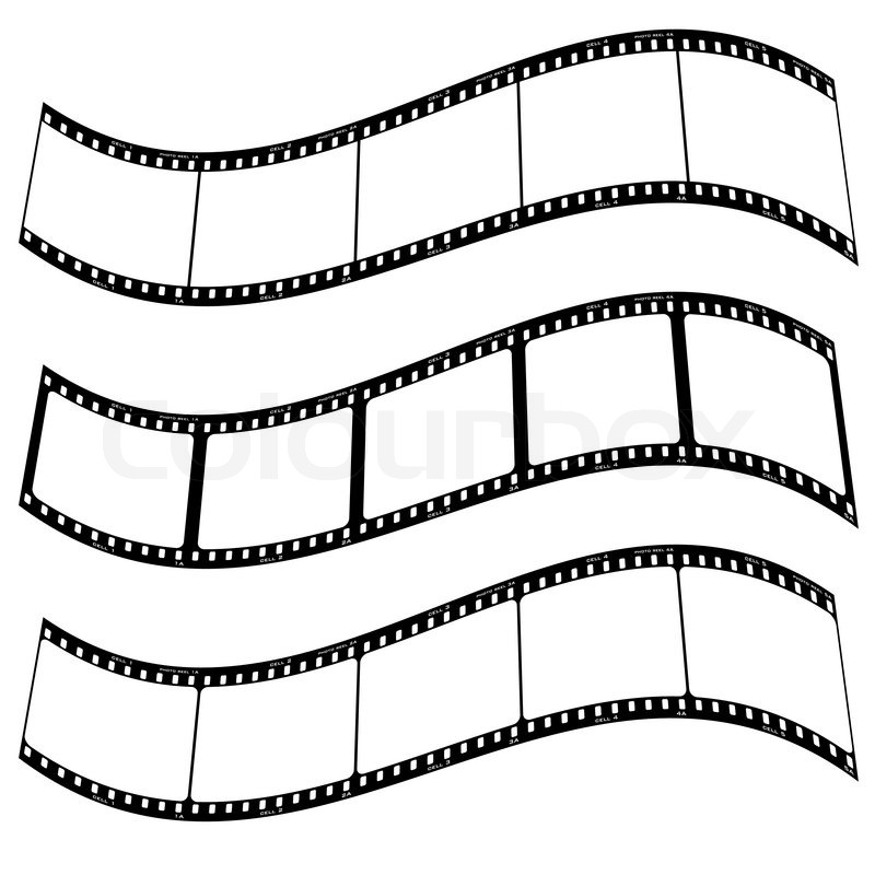 800x800 Three Blank Film Strips With Room To Addd Your Own Copy Twisted