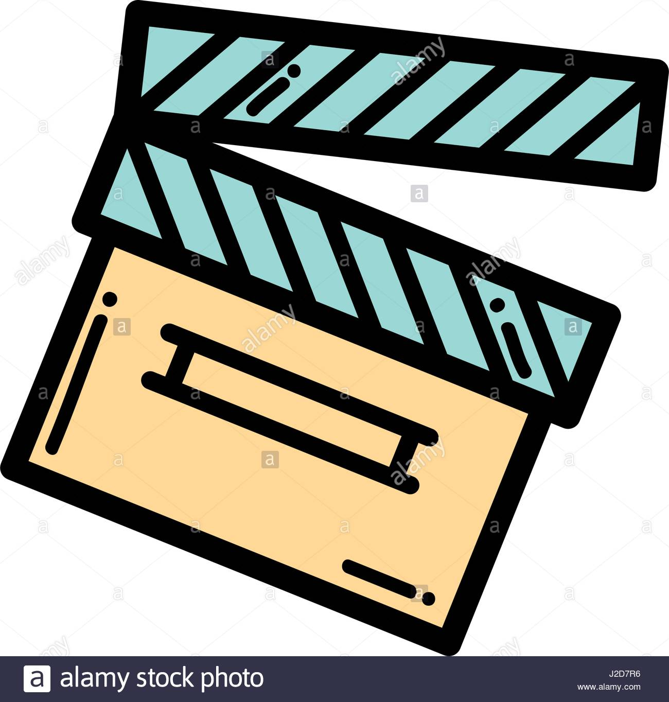 1300x1364 Clapper Board Action Video Filmstrips Stock Vector Art