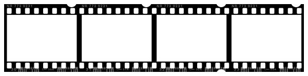 600x148 Blank Negative Film Strip