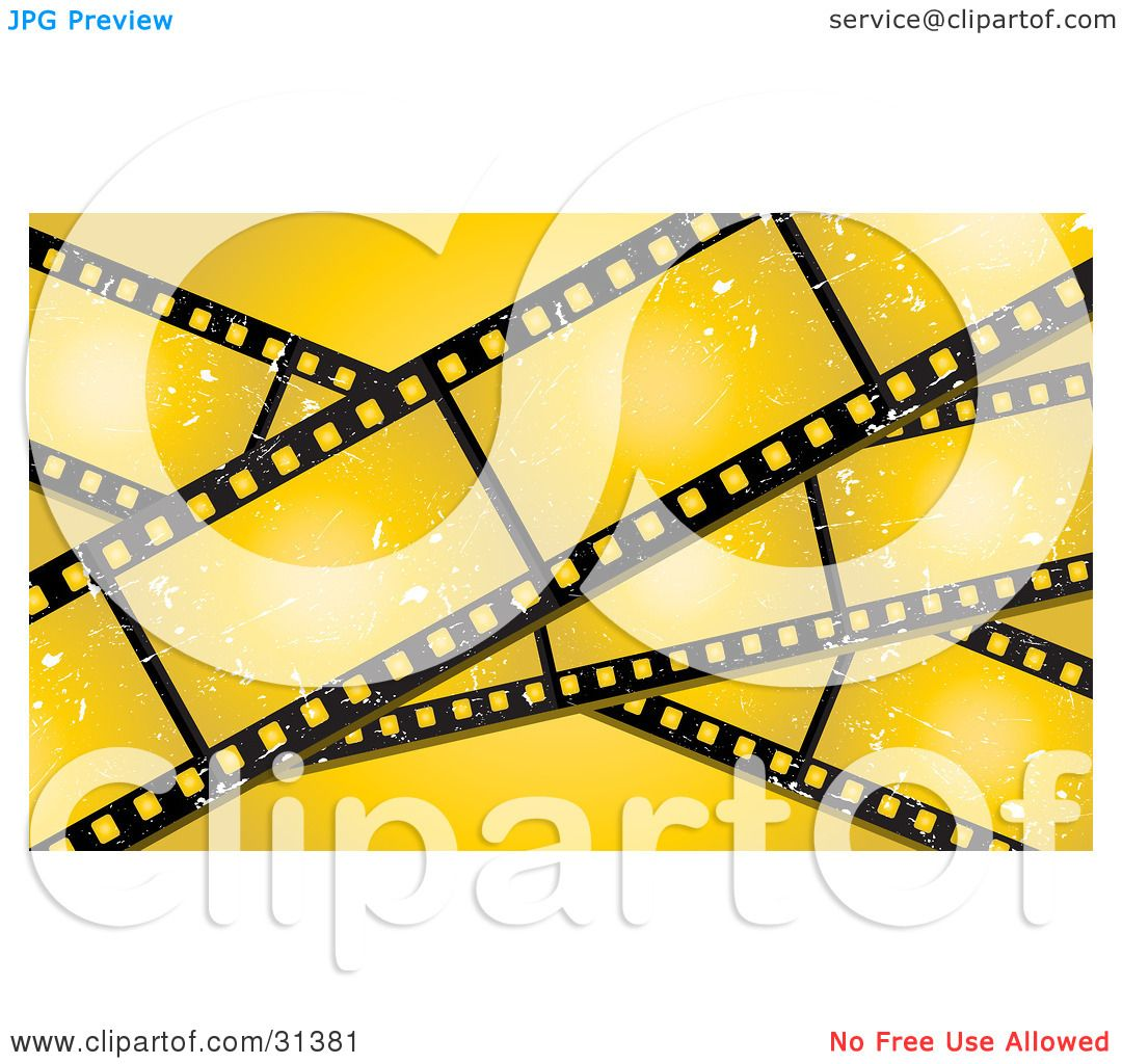 1080x1024 Clipart Illustration Of Three Grungy Blank Film Strips