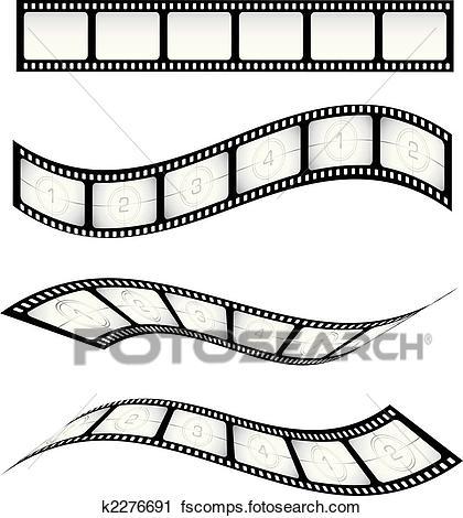 420x470 Clipart Of Film Strips K2276691