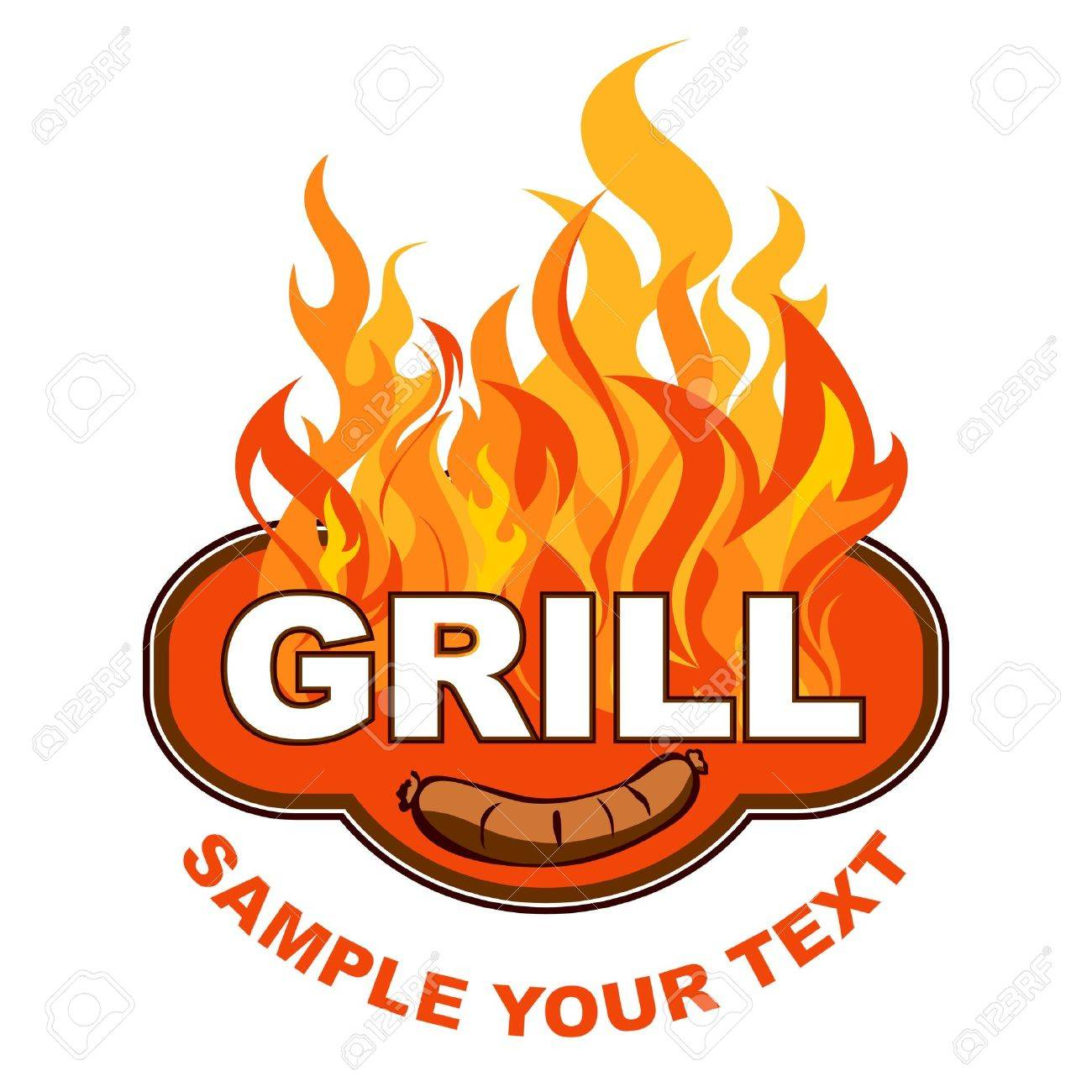 1300x1300 Grill Flames Clipart