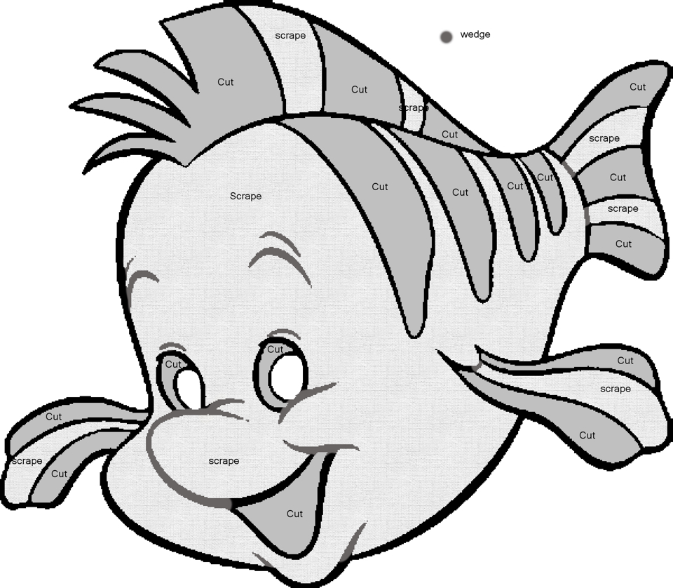 960x838 Flounder Pumpkin Carving Template From Disney's The Little