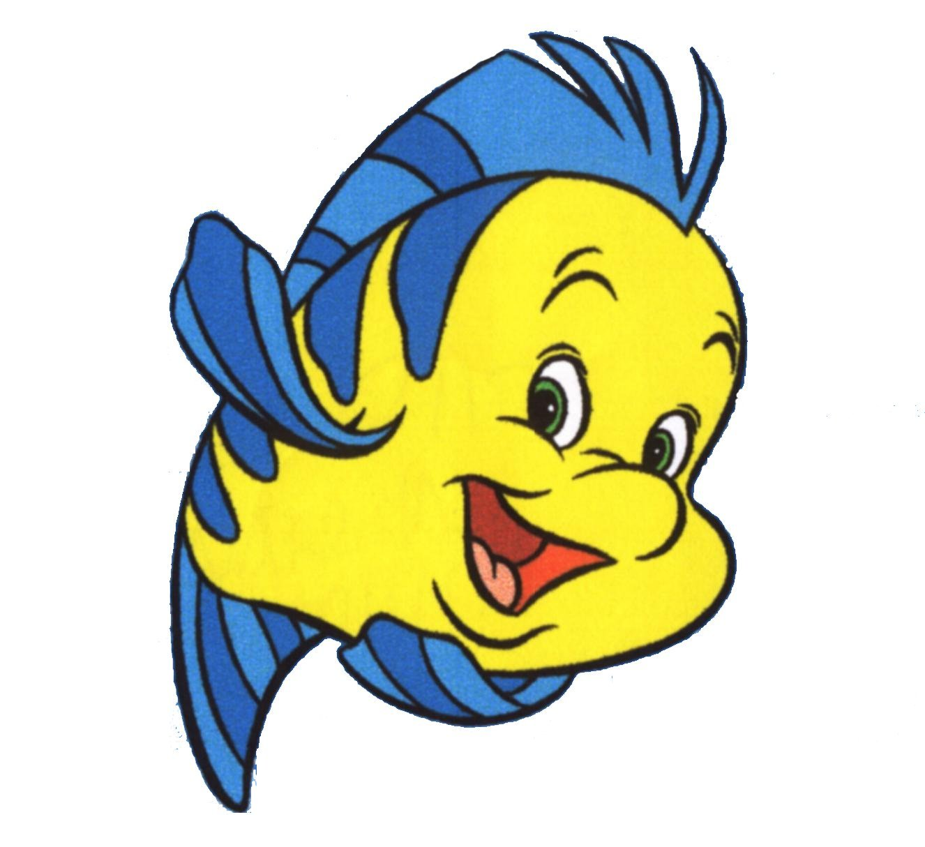 1326x1214 The Little Mermaid Flounder Wall Decal Kids Sticker