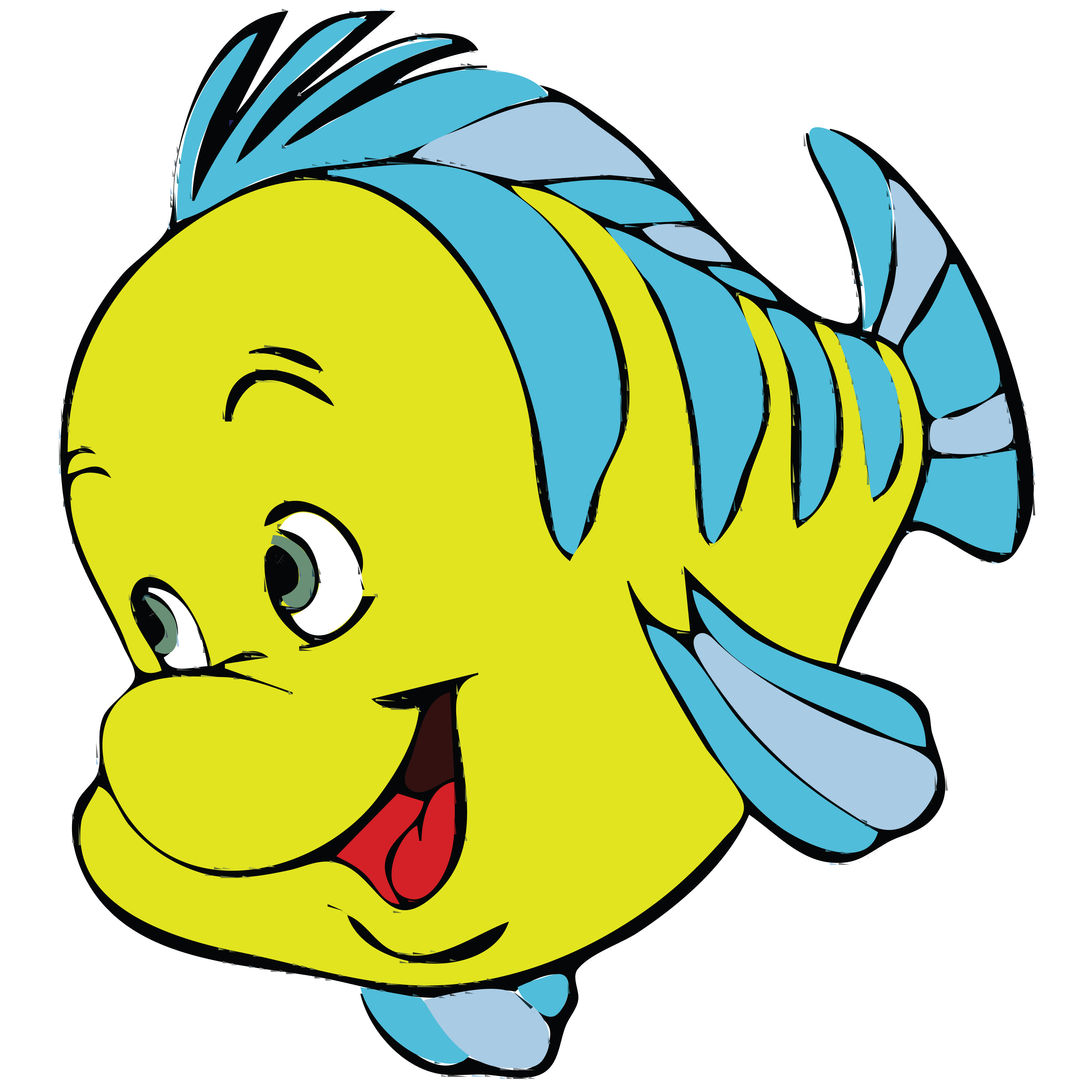 4000x4000 Clipart Of A Fish From Little Mermaid, Flounder