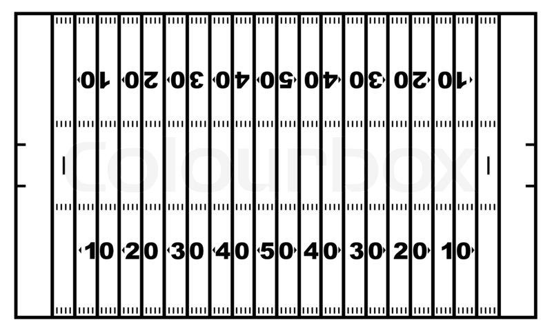 800x480 American Football Field Stock Photo Colourbox