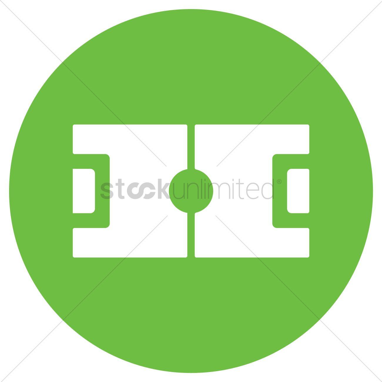 1300x1300 Football Field Vector Image